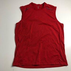 MEC Sleeveless Shirt Red Workout Men's Large